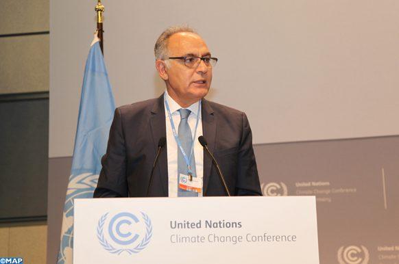 Le président du Comité de pilotage de la COP22 et ministre des Affaires étrangères et de la Coopération, Salaheddine Mezouar,intervenant , lundi (16/05/16) à  Bonn, lors de l'ouverture de la Conférence de Bonn, qui marque le début des 44èmes sessions des organes subsidiaires de la CCNUCC (SBI et SBSTA) et la 1ère session de l'APA (Ad Hoc Working Group on the Paris Agreement).
