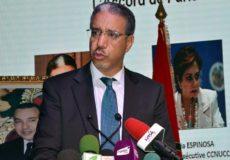 Intervention du ministre de l'Energie, des Mines et du Développement Durable, M. Aziz Rebbah, lundi (11/09/17) à Agadir, lors de la cérémonie d'ouverture du sommet des acteurs non-étatiques sur le climat (Climate Chance).