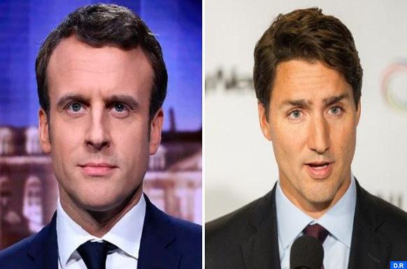 Trudeau et Emmanuel Macron