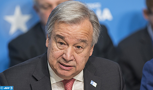 """(FILES) This file photo taken on May 10, 2017 shows UN Secretary General, António Guterres attending the London Somalia Conference at Lancaster House in London. UN Secretary-General Antonio Guterres on May 15, 2017 condemned North Korea over its launch of a ballistic missile and called on Pyongyang to return to denuclearization. """"This action is in violation of Security Council resolutions and a threat to peace and security in the region,"""" said Guterres in a statement by his spokesman.   / AFP PHOTO / JACK HILL"""