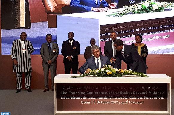 Doha - Conference de lancement de l'alliance mondiale des terres arides -Eco