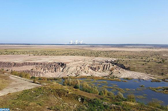 Mine de lignite près de Cottbus (Est de l'Allemagne) -Eco