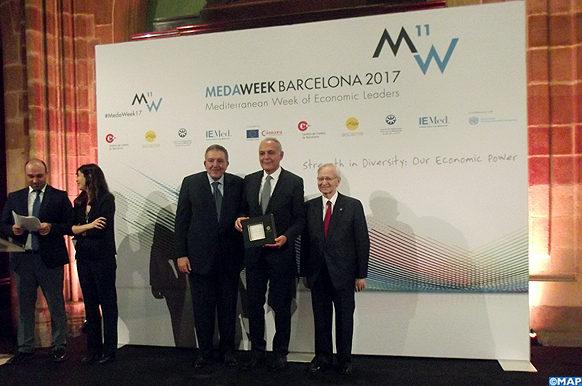 MedaWeek 2017 -M. Mezouar reçoit à Barcelone le Prix Méditerranée de l'ASCAME-M ECOLOGY