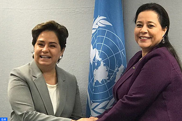 Mme Bensalah Chaqroun avec Espinosa-M ECOLOGY