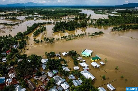 Tempête aux Philippines