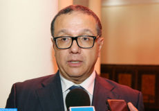 Le ministre de l'Économie et des Finances, Mohamed Boussaid donne mardi (03/10/2017) à Rabat, une déclaration à la MAP.