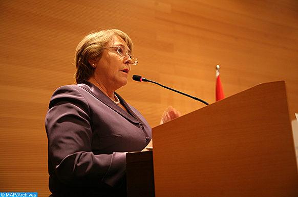 La directrice exécutive d'ONU-Femmes, Mme Michelle Bachelet lors d'une conférence nationale organisée, jeudi (08/03/12) à Rabat, à l'occasion de la Journée internationale de la femme. (ph Hassan Shaimi)
