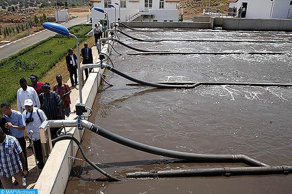 Une délégation guinéenne visite, mercredi (05/07/17), la Station d'épuration des eaux usées (STEP) en boues activées de la ville d'Ifrane.