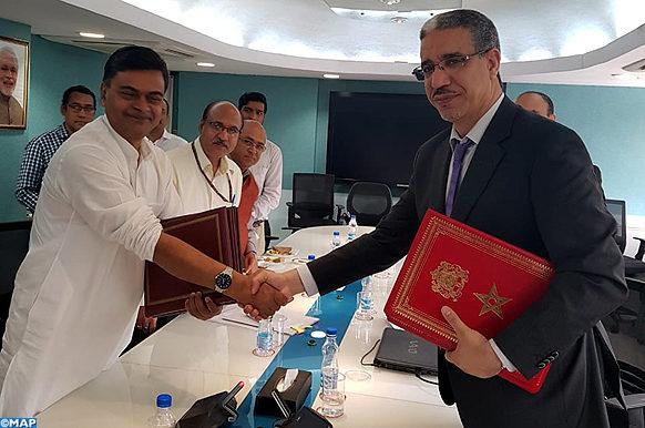 Entretiens a New Delhi -  Maroc - Inde - energie - MAP ECO