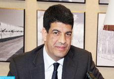 Le président du directoire de l'Agence Marocaine de l'Energie Solaire (MASEN), Mustapha Bakkoury, accordant, lundi (04/06/12) à Rabat, un entretien à la MAP.