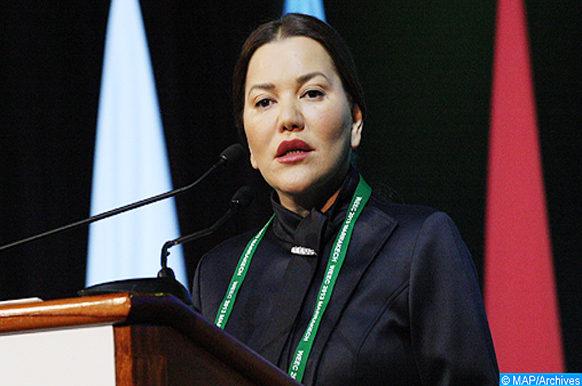 Son Altesse Royale la Princesse Lalla Hasnaa, présidente de la Fondation Mohammed VI pour la Protection de l'Environnement, préside, dimanche (09/06/13) au palais des congrès à Marrakech, l'ouverture officielle du 7è Congrès Mondial de l'Education à l'Environnement (WEEC). (MAP/Hicham Ferchi)