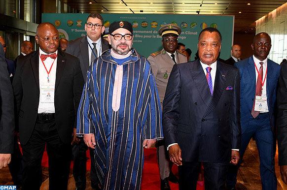 Sommet Bassin du Congo-Arrivee de SM le Roi-Ecologie3