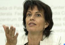 La ministre suisse d'Environnement, des transports, de l'énergie et de la communication, Doris Leuthard