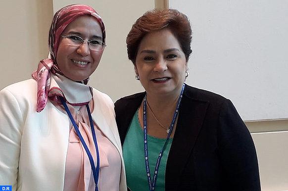 Mme El Ouafi s'entretient à New York avec Patricia Espinosa_ECO
