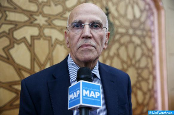 Le président du Forum marocain des initiatives environnementales, Abdelhai Rais, donne, jeudi (04/01/2018) à Fès, une déclaration à la MAP, dans le cadre de la célébration de la 8ème journée annuelle de Fès.