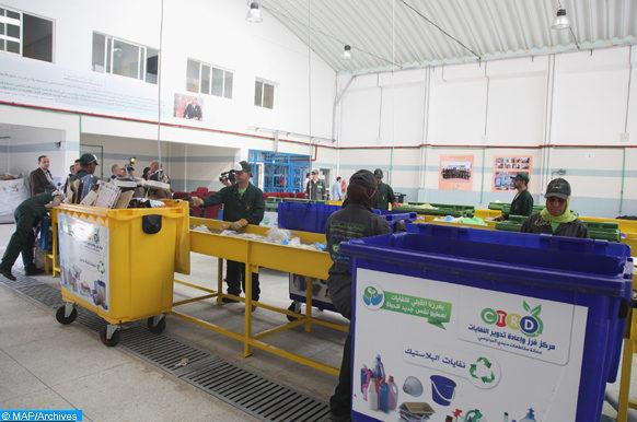 Présentation vendredi (10/10/14), de la fiche technique des centres de tri et de recyclage des déchets ménagers dans toutes les préfectures du Grand Casablanca.