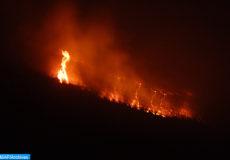 Plusieurs hectares, ont été ravagés par un énorme incendie, samedi (10/08/13), dans les forêts de Mesguina et d'Admin de la commune d'Amskroud, à une cinquantaine de kilomètres à l'est d'Agadir.