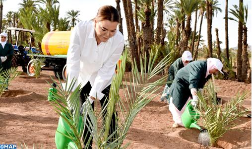 Lalla Hasnaa visite projets_ sauvegarde de la Palmeraie de Marrakech_M1