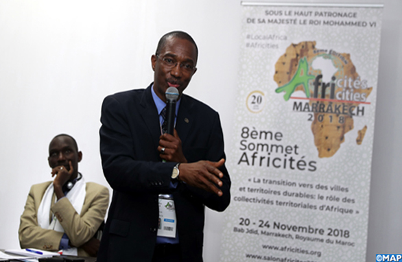 Panel, organisé, mardi (20/11/2018) à Marrakech, sous le thème: «Budget participatif: Avancées et défis pour la transition vers des villes et territoires durables» dans le cadre des travaux du 8ème Sommet Africités qui se tient du 20 au 24 novembre à Marrakech