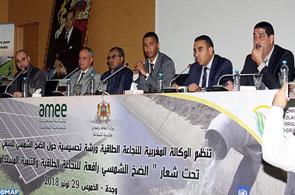 Oujda-atelier-pompage solaire pour l'irrigation agricole-ECO