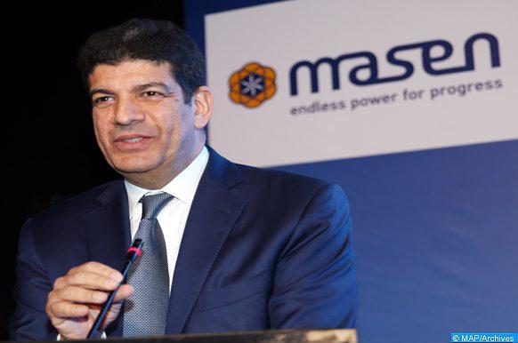 Le président Directeur Général de l'Agence marocaine de l'énergie durable (Masen), Mustapha Bakkoury, intervenant, mardi (02/10/18), en marge de la 24e édition de la conférence internationale de l'ingénierie de l'énergie solaire concentrée et des procédés chimiques (SolarPACES).