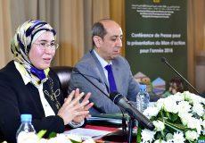 Conference de presse de Mme EL OUafi pour présentrer le bilan du secrétariat d Etat charge du developpement durable  en 2018 -M ECOLOGY