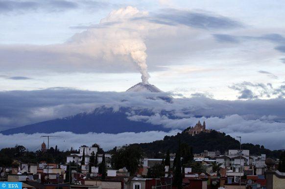 Le volcan Popocatépelt