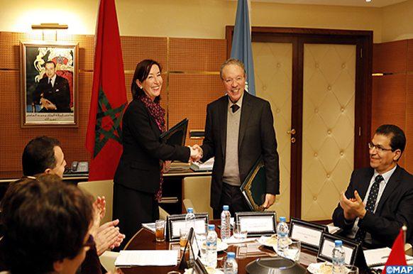 Signature -accord –partenariat -relatif aux ODD -HCP- le PNUD et 10 agences onusiennes-ECO