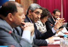 Le président du conseil communal de Casablanca Abdelaziz El Omari,  intervenant, lundi (05/03/18) à Casablanca, lors d'une rencontre destinée à jeter la lumière sur le  prêt de la BM à la commune de Casablanca.