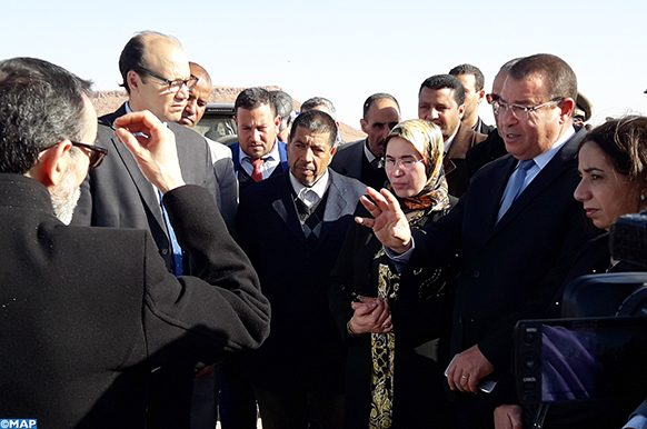 Errachidia Visite Nezha El Ouafi Projet enfouissement déchets - Ecology