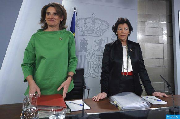 Conférence de presse d'Isabel Celaa et Teresa Ribera