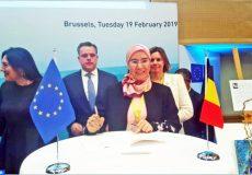 Nezha El Ouafi dans une conférence sur les océans à Bruxelles_ECO