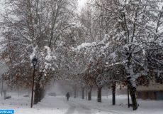 La neige étend son manteau blanc sur Ifrane et ses alentours
