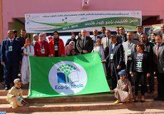 Le ''Pavillon Vert'' a été hissé, jeudi (21/03/19), à l'école Othmane Ibn Affane, dans la commune de Tarmikt (province d'Ouarzazate) et ce, dans le cadre du programme ''Eco-écoles'' de la Fondation Mohammed VI pour la Protection de l'Environnement.
