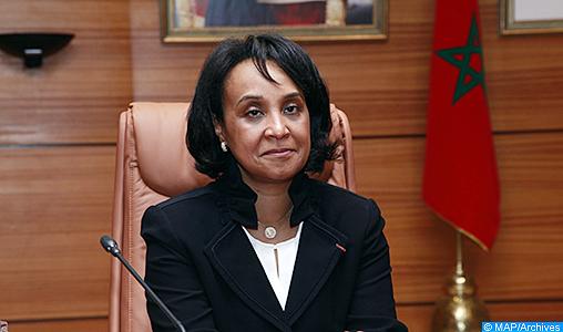 Mounia Boucetta, secrétaire d'Etat auprès du ministre des Affaires étrangères et de la Coopération internationale, mercredi (06/04/17).