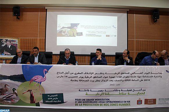 Tanger-mobilisation-protection zones humides-ecologie