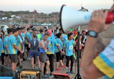 La 3eme édition du sunset de Skhirat, une course à pied semi nocturne  de 10 km, organisée samedi (171016), dont les bénéfices sont entièrement consacrés à l'achat de matériel pour une école de la ville Marathon, SunSet, Skhirat, 3eme édition
