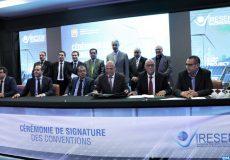 Tenue, mardi (16/04/19) à Rabat, de la cérémonie de signature des conventions de financement des projets de recherche et développement en présence du ministre de l'Énergie, des mines et du développement durable, Aziz Rabbah dans le cadre de l'appel à projet '' Green INNO-PROJECT'' et  des projets d'Innovation dans le cadre de l'appel à projet '' Green INNO-BOOST'' lancés par l'Institut de Recherche en Énergie Solaire et Énergies Nouvelles (IRESEN) au titre de l'année 2018, pour le financement de projets collaboratifs portés par les universités et entreprises marocaines et étrangères