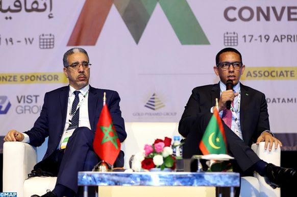 Ouverture, mercredi (17/04/19) à Marrakech, de la première édition du Marrakech Mining Convention (MMC), en présence du ministre de l'Energie, des Mines et du Développement Durable, Aziz Rabbah.