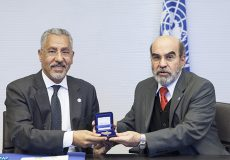 15 December 2015, Rome, Italy - Nomination and bilateral meeting with FAO Director-General Jose' Graziano da Silva of the new Goodwill Ambassador in the United Arab Emirates (UAE) Prof Abdelouahhab Zaid, Agricultural Advisor at the Ministry of Presidential Affairs, United Arab Emirates, and Secretary General of the Khalifa International Award for Date Palm and Agricultural Innovation, FAO Headquarters (Australia Room).