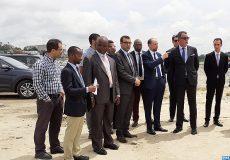 Abidjan -Baie de Cocody  M. Jazouli s'enquiert de l'avancement des travaux-M ECOLOGY