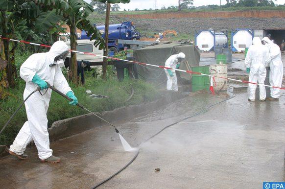 nettoyage de Minden des substances chimiques d'une entreprise