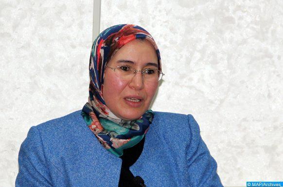 La secrétaire d'État chargée du développement durable, Mme Nezha ElOuafi, intervenant, jeudi (03/12/18) à Tanger, lors de l'ouverture de la 10e Journée développement durable.