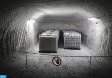 epa06822602 Liquids for the preparation of building material stored in tanks inside the Asse II mine (Schachtanlage Asse II) in Remlingen near Wolfenbuettel, northern Germany, 19 June 2018. Reports state that between 1967 and the 1978, the former salt mine in the Asse mountains was used as a repository for low and intermediate-level radioactive waste. Due to instability of the drift and water inflow, the drums inside the repository will be retrieved in a long-term operation.  EPA-EFE/FOCKE STRANGMANN
