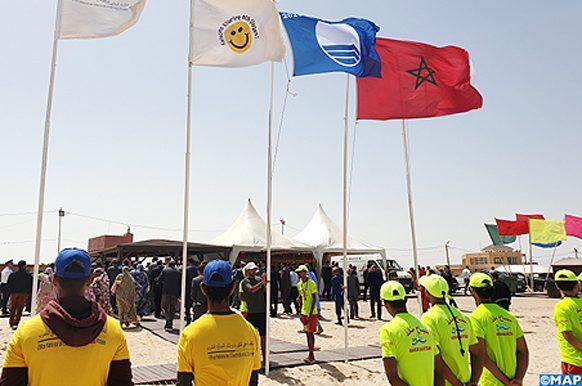 Dakhla la Plage  Oum Lamboiur hisse le pavillon bleu-M
