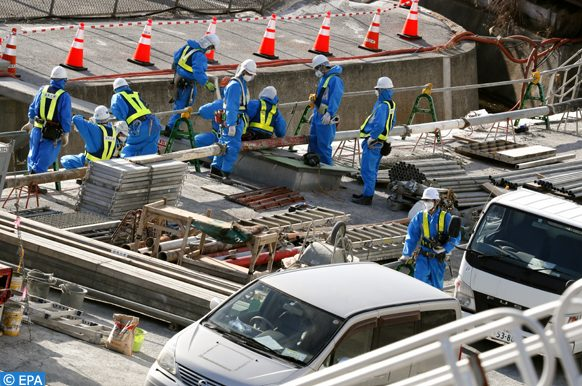 epa07311999 Workers take parts in the demolition work at Tokyo Electric Power Company's Fukushima Daichi Nuclear Power Plant in Okuma, Fukushima Prefecture, northern Japan, 23 Janaury 2019. The nuclear power plant was devastated on 11 March 2011 by tsunami following the magnitude 9.0 earthquake.  EPA-EFE/KIMIMASA MAYAMA