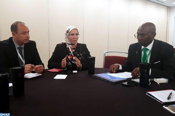 Nezha  EL Ouafi s'entretient en Corée du Sud avec un haut responsable du Fonds vert pour le climat-ECOLOGY