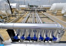 epa07660236 A new natural gas processing plant of O&GD Central Ltd. is pictured near Konyar, Hungary, 20 June 2019, on its day of inauguration. The Dutch-owned company has invested 6 billion forints (some 19 million euros) to build the most modern gas plant in Eastern Hungary. The plant currently has a daily capacity of 480 thousand cubic meters, which may be doubled over time.  EPA-EFE/Zsolt Czegledi HUNGARY OUT