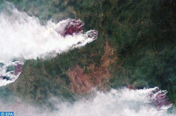 incendies de forêts en Sibérie, éteints grâce à l'intervention de l'armée russe