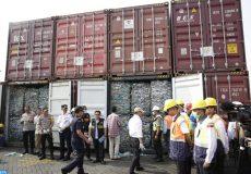 Conteneurs déchets en Indonésie